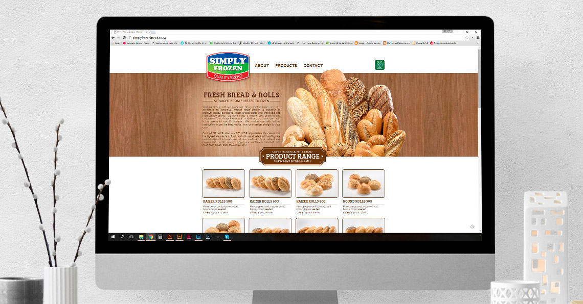 Website Design - Simply Frozen Bread
