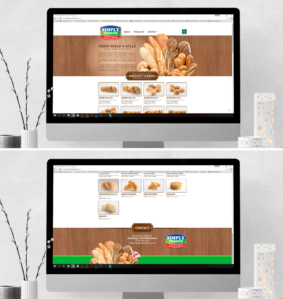 Website Design Simply Frozen Bread