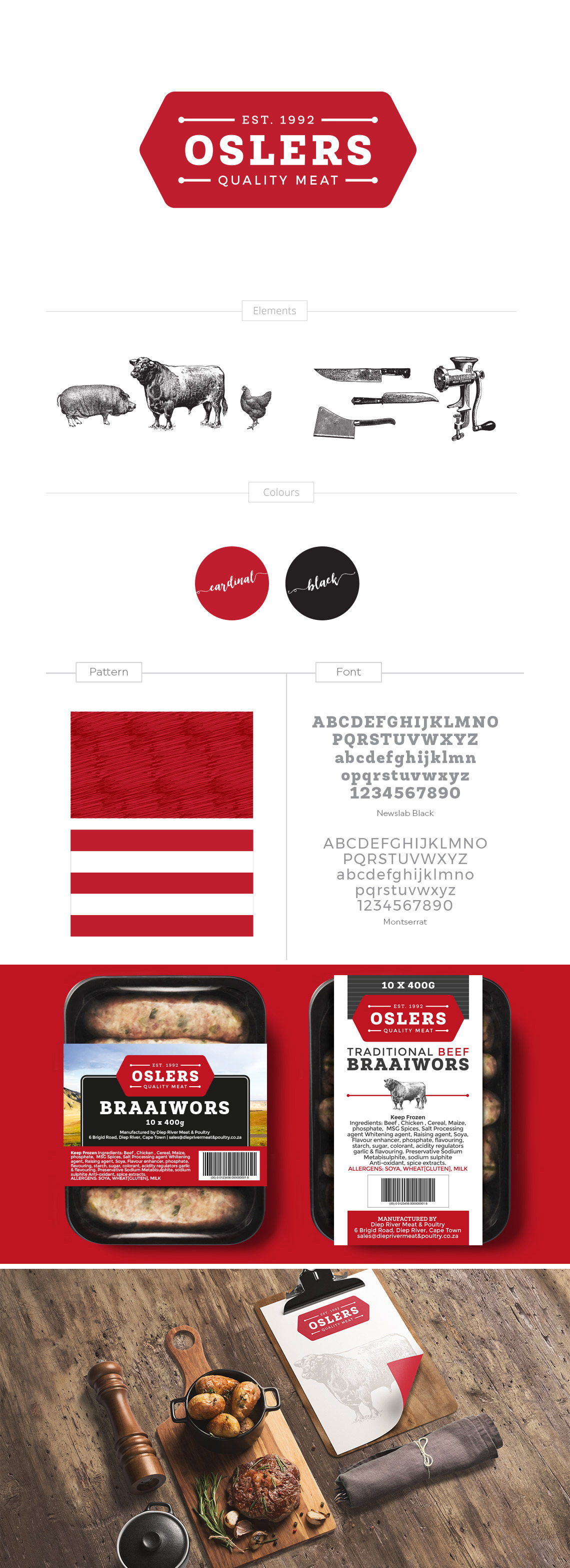 Logo and Packaging Design Oslers Quality Meat